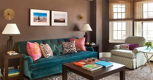 love the rich color palette in this living room by annsley interiors
