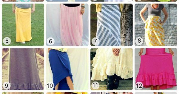 16 Maxi Skirt Tutorials & 16 Maxi Dress Tutorials - Some really
