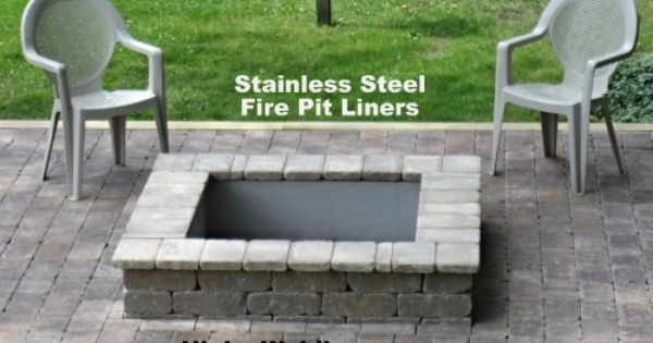 I Build Stainless Steel Fire Pit Liners All Sizes And