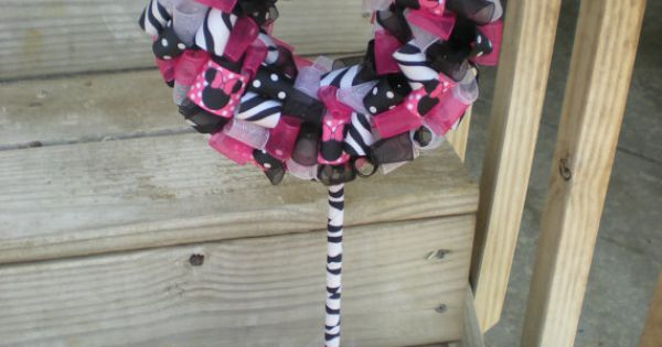 Minnie Mouse Zebra Ribbon Minnie Mouse