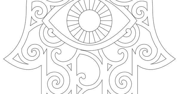 printable hamsa tattoo Hamsa Coloring Page And