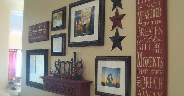 Photo wall collage ideas wall collage for the home pinterest collage ideas wall collage - Wall collage ideas living room ...