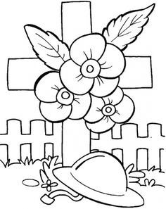 War Memorial Poppies Colouring Pages Google Search Remembrance