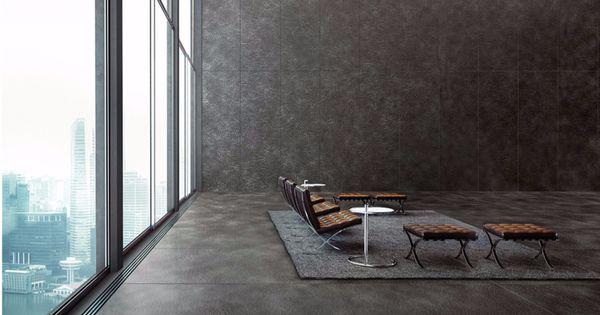Revestimiento de pared suelo de gres porcel nico efecto - Suelos de gres catalogo ...