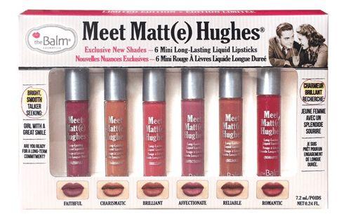 مجموعة 6 احمر شفاه سائل ميت مات هيوز من ذا بالم Vol2 Meet Matte Hughes Meet Matte Liquid Lipstick Set