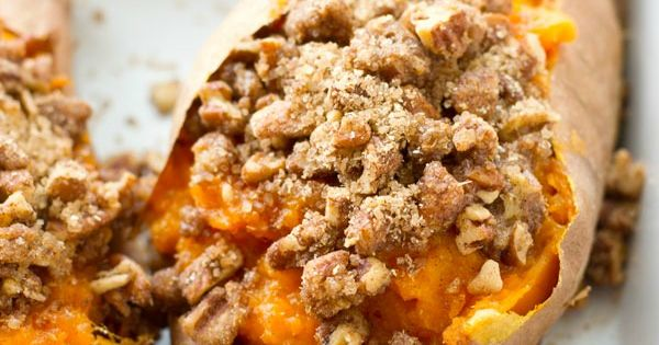 Twice-Baked Pecan Streusel Sweet Potatoes | Recipe | Streusel Topping ...