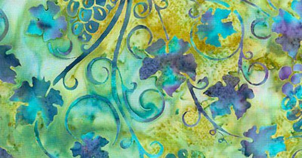 Grape Arbor Batik - Avocado | Fabric I Love | Pinterest | Avocado ...