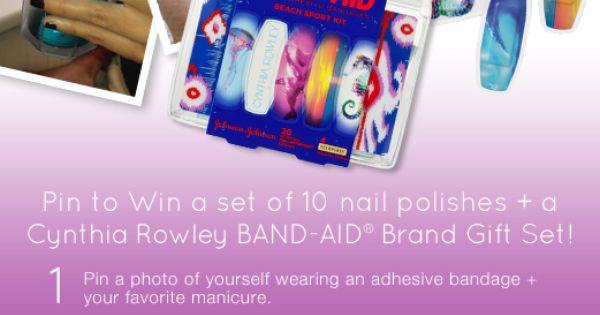 Pin to Win 10 Nail Polishes + a Cynthia Rowley BandAid gift