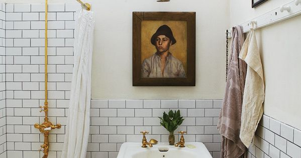 The Makeunder - John Derian's bathroom design bathroom decor bathroom inspiration bathroom