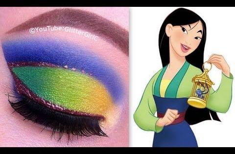 Princess Mulan Makeup Tutorial Youtube Disney Princess Makeup