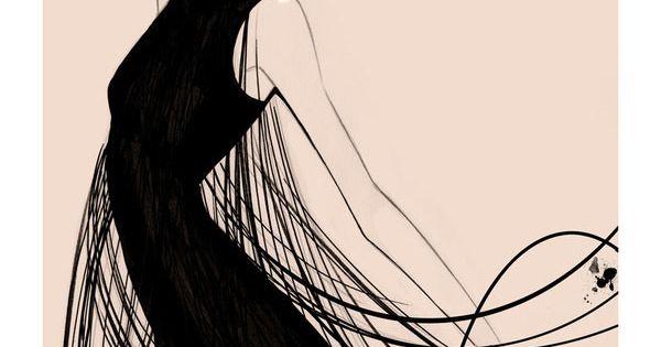 Fashion illustration by Nuno DaCosta. Dress by Jil Sander.