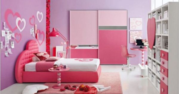 cute tween girl bedroom ideas with lively color scheme