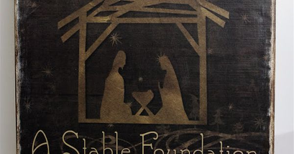 All Families Need a Stable Foundation. ~ Love this Christmas Sign~