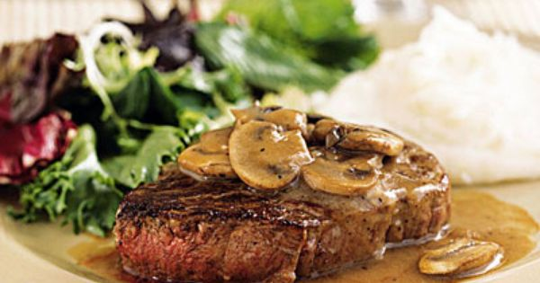 Filet mignon with mushroom wine sauce recipe romantic for Romantic dinner for 2 recipes