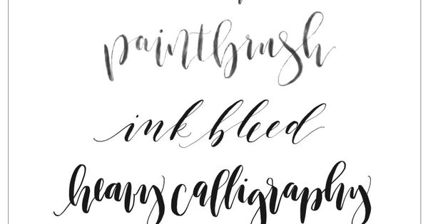Calligraphy and lettering brushes for procreate ipad