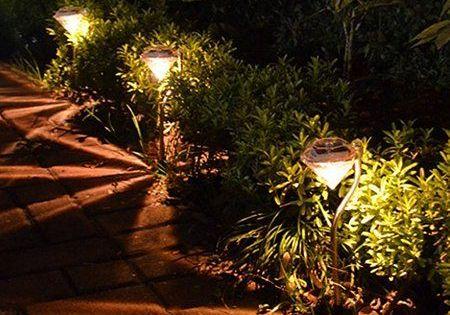 Kingso Outdoor Led Solar Power Path Night Lights Lamp Garden Fence Light 4 Pack White Led T In 2020 Solar Powered Garden Lights Solar Lights Garden Fence Lighting