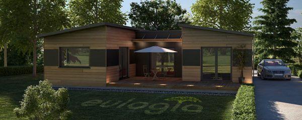 maison bois moderne c125 modele maison pinterest - Maison En Bois Moderne