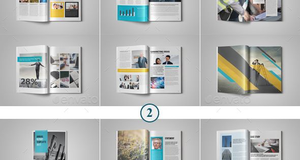 48 Pages Annual Report Template Bundle – 2 – Corporate Brochures