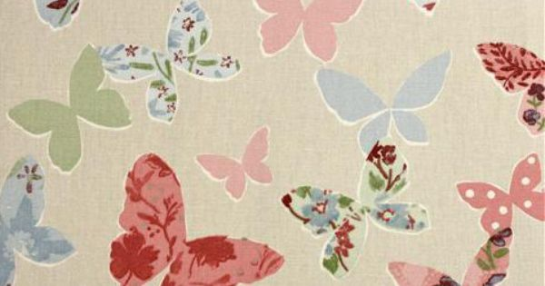 Butterflies 100/% Cotton Fabric Woodland Flutterby Lifestyle Vintage 140cm Wide