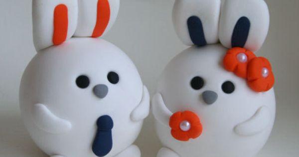 bunny rabbit cake topper weddings pinterest rabbit