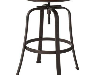 Dakota Adjustable Height Swivel Stool Espresso Bronze