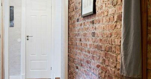backstein tapete schicke rustikale akzente in der modernen wohnung unbedingt kaufen. Black Bedroom Furniture Sets. Home Design Ideas