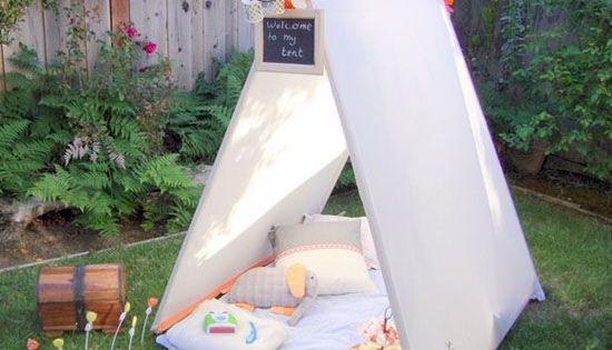 nastiya fabriquer un tipi enfant avec des rideaux enfant pinterest. Black Bedroom Furniture Sets. Home Design Ideas