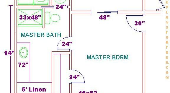 Floor Plan For A 8x14 Bath And 11x13 Bedroom