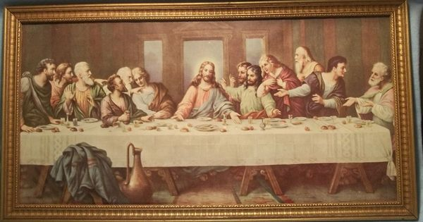 Vintage print - The Lord's Supper - by Brunozetti. This ...