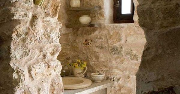 Bonitos ba os con piedra natural piedra ba o y ba os for Banos con piedra natural