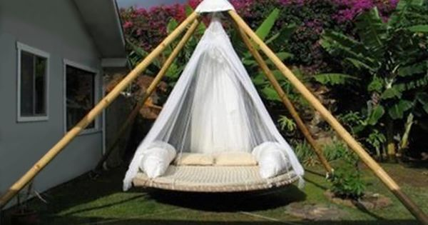 Daybed Frame Diy Jckz In 2020 Outdoor Hanging Bed Outdoor Beds Floating Bed