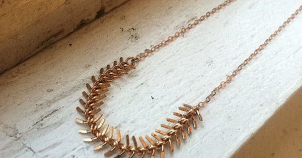 Rose Gold Chain Necklace -beautiful snaky chain links