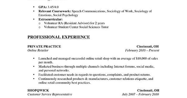 A Stay At Home Mom Resume Sample For Parents With Only A Little Previous Work Experience.