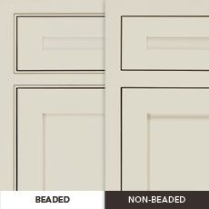 29++ Beaded shaker cabinets type