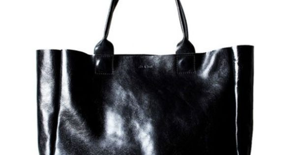 Black leather Heirloom Tote bag Style
