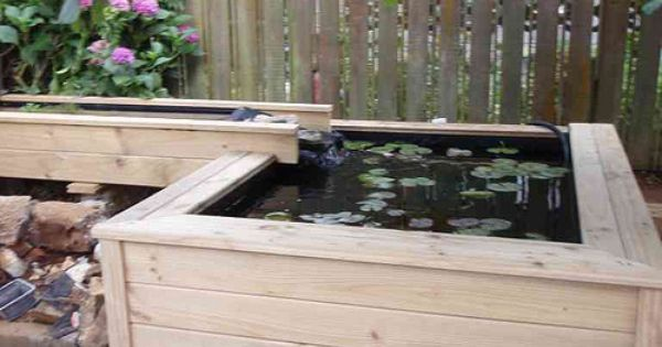 Above ground pond idea aquaponics pinterest pond for In ground koi pond