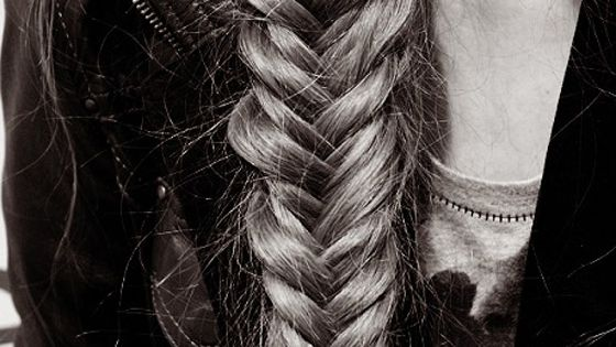 long hair don't care fish braid cool hairdo