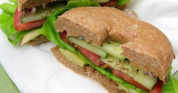 Veggie and Cheese Bagel Sandwich | food | Pinterest | Bagel Sandwich ...
