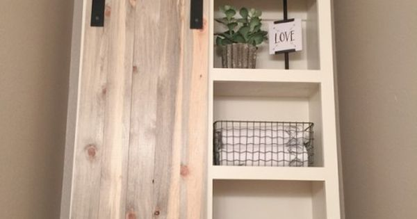Diy Sliding Barn Door Bathroom Cabinet Diy Sliding Barn