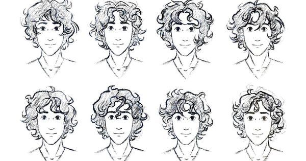 How To Draw Curly Hair Drawn Boy Curly Hair Boy Pencil And In Color Drawn Boy Curly Free Jpg 600 315 Pixels Anime Curly Hair Manga Hair Curly Hair Drawing
