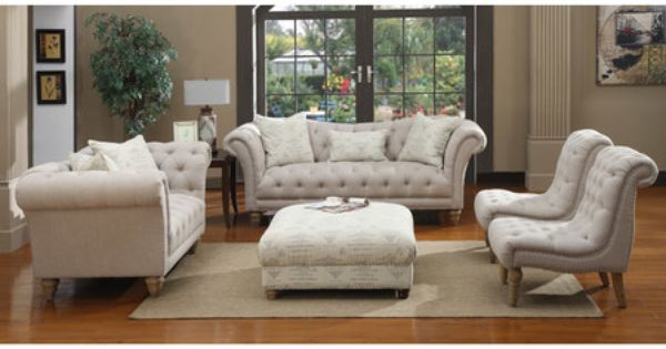 Faye Tufted Loveseat In Light Grey Living Room Decor Pinterest Grey In And Lights