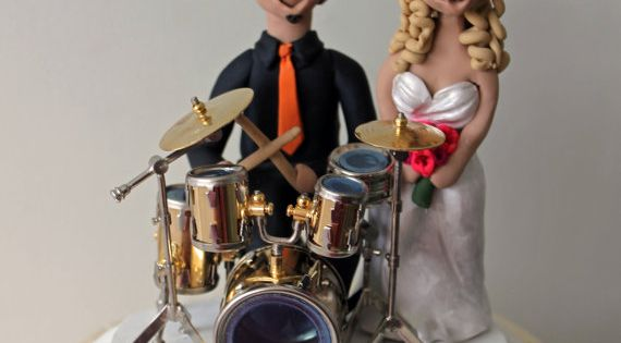 drummer wedding cake topper customized drummer wedding cake topper drum by 13755