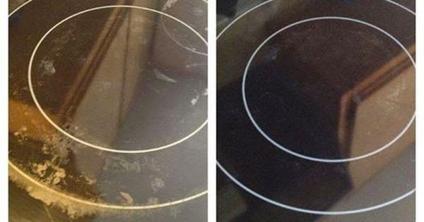 how to clean glass cooktop stains