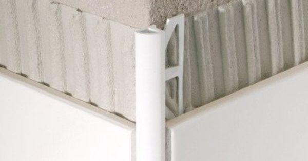 Pvc Aluminum Quarter Circle Tile Trim Finish White Tile Thickness Compatibility 3 8 By Blanke 12 85 347 501 10025 Finish W Tile Trim Bullnose Tile Home