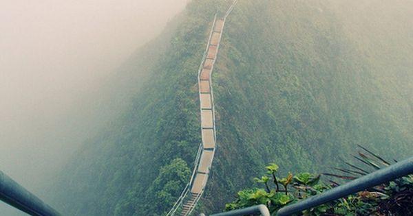 Haiku Stairs, Oahu, Hawaii. - this looks like a walk for the