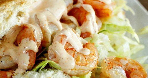 Shrimp Po Boy Sandwich - I love that the shrimp is buttery