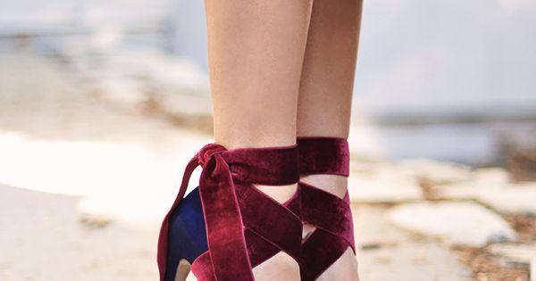 Velvet Ribbon Ankle Wrap Bow Heels DIY (Love Maegan ...