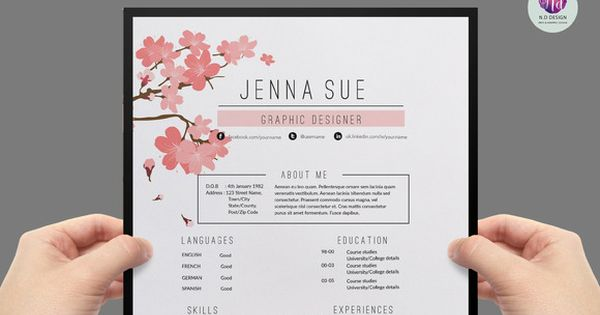 Modern Resume Template By Chic Templates On