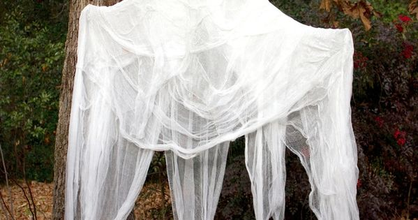 Levitating Ghost in Our 50 Favorite Halloween Decorating Ideas from HGTV