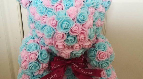 Girlfriend Gift Rose Rabbit Rose Bear Anniversary Gift Rose Bunny 600 Big Roses Valentine/'s Day Gift Forever Rose Christmas Gift
